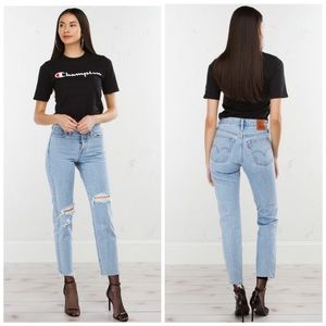 LEVIS Wedgie Fit Light Wash High Rise Jeans